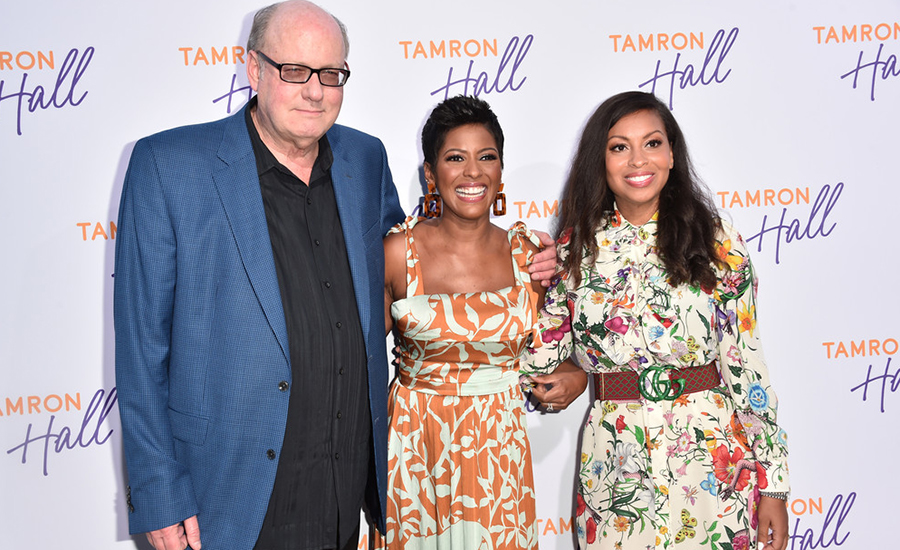(L-R) Bill Geddie, Tamron Hall and Talia Parkinson-Jones attend ABC's TCA Summer Press Tour Carpet Event on August 05, 2019 in West Hollywood, California. (Credit: Getty)