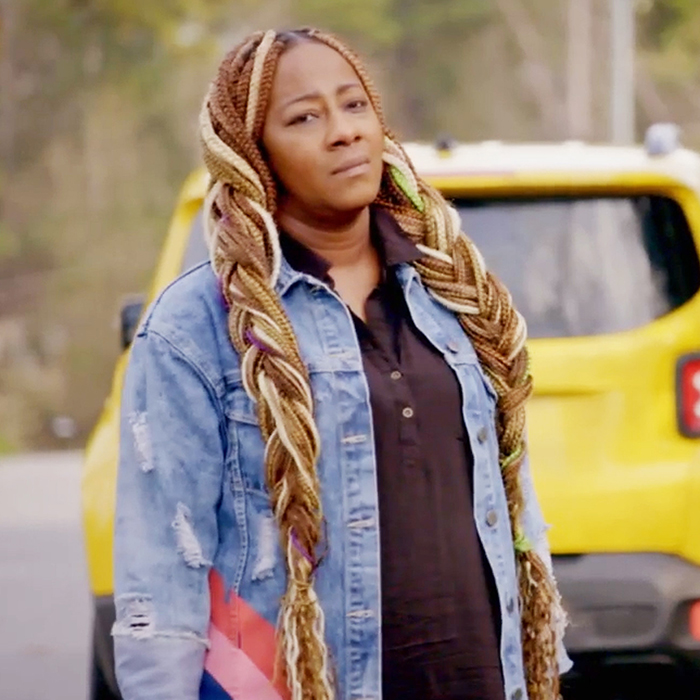 Le'Andria Johnson is confronted by Iyanla Vanzant (not pictured) when she felt like giving up on the process. (Credit: OWN Network)