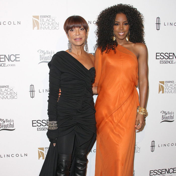 Sylvia Rhone and Kelly Rowland at the ESSENCE 'Black Women In Music' Event (Credit: Getty)