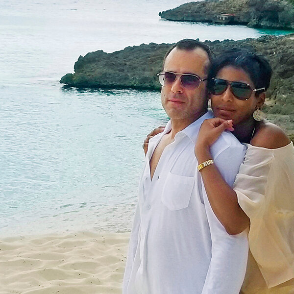 Tamron Hall and her husband Steven Greener (Photo Credit: People)