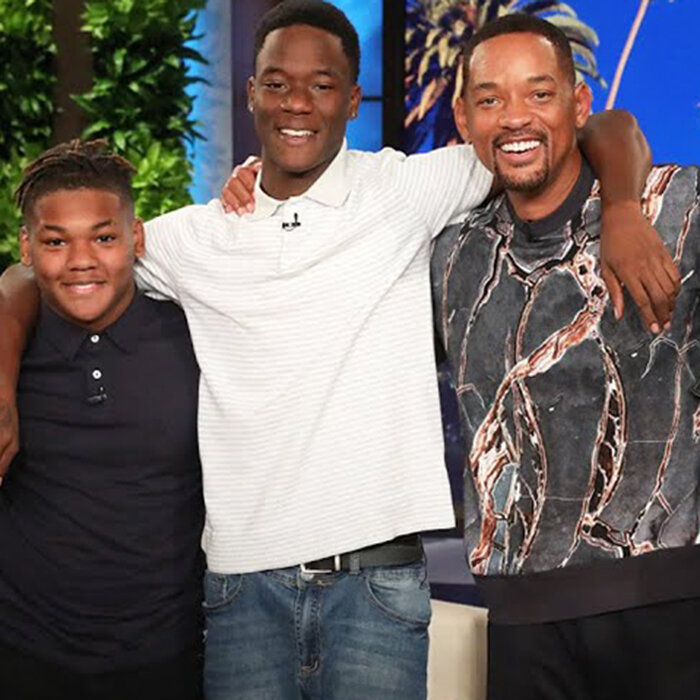 Will Smith shows up to personally thank Kristopher Graham and Antwain Garrett for helping out their classmate (Credit: Warner Bros)