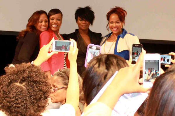 "Left to Right: SistaFriendz Founder Toya Beasley, Award-winning media specialist Dianna Hobbs, Emmy-winning make-up artist Karen Dupiche, Celebrity Stylist and reality star Thomasina ""Goo Goo"" Atkins at a Brooklyn networking event"