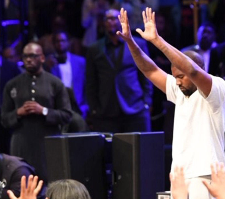 """Kanye West worships at New Birth and praises God for """"working miracles"""" in his life and """"saving him."""" (Sunday, September, 15, 2019)"""