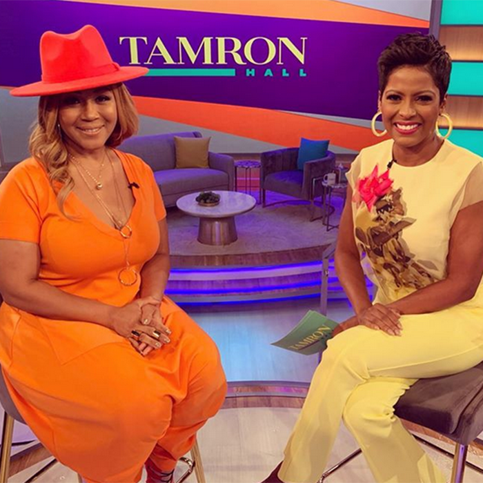 Erica Campbell stops by 'The Tamron Hall Show' (Credit: Instagram)
