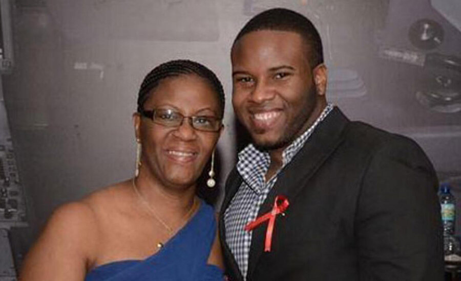 Botham Jean with his mother Allison Jean (Credit: Jean family)