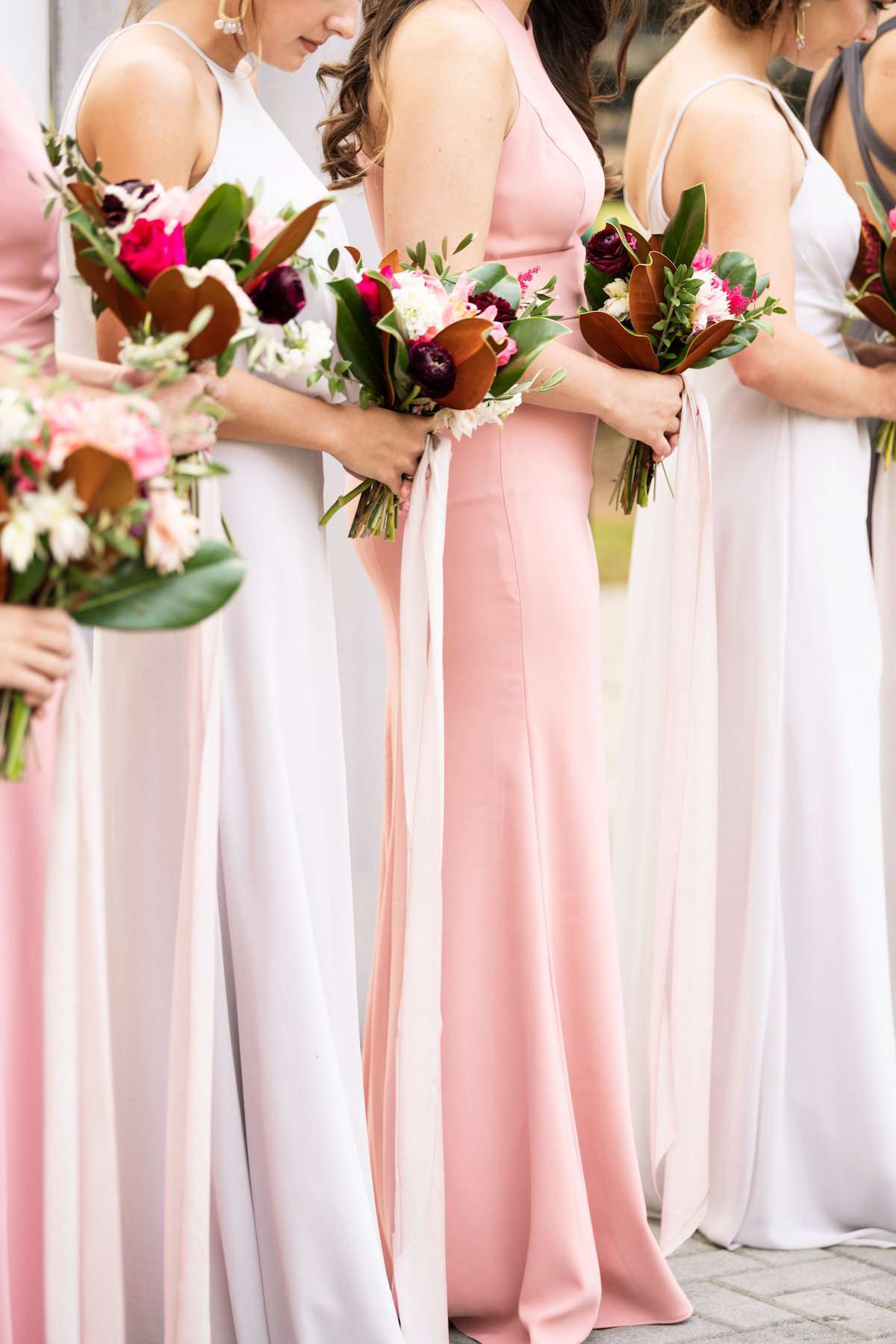 bridal party bouquets wedding trends moody & bright