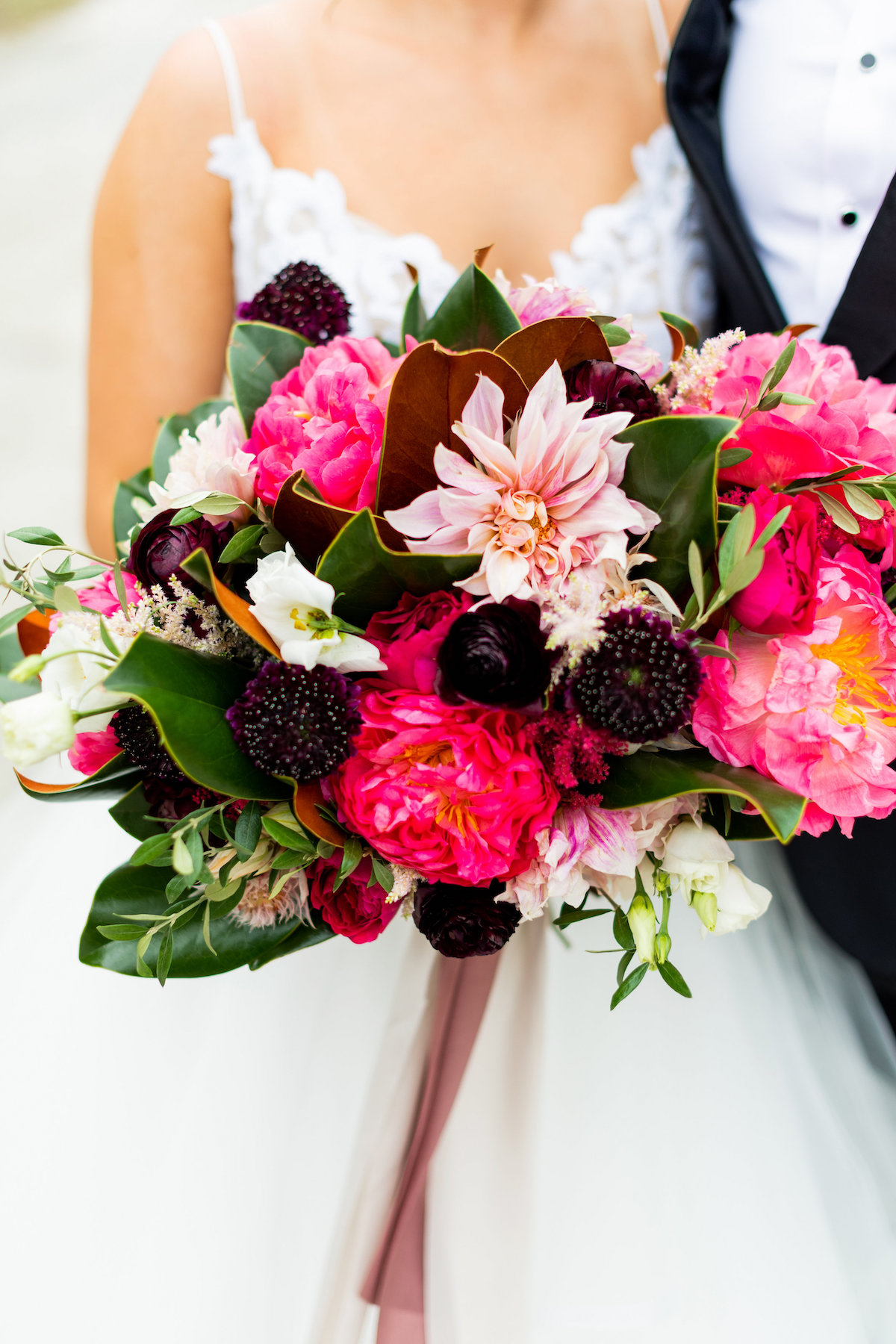 moody & bright bridal bouquet inspiration