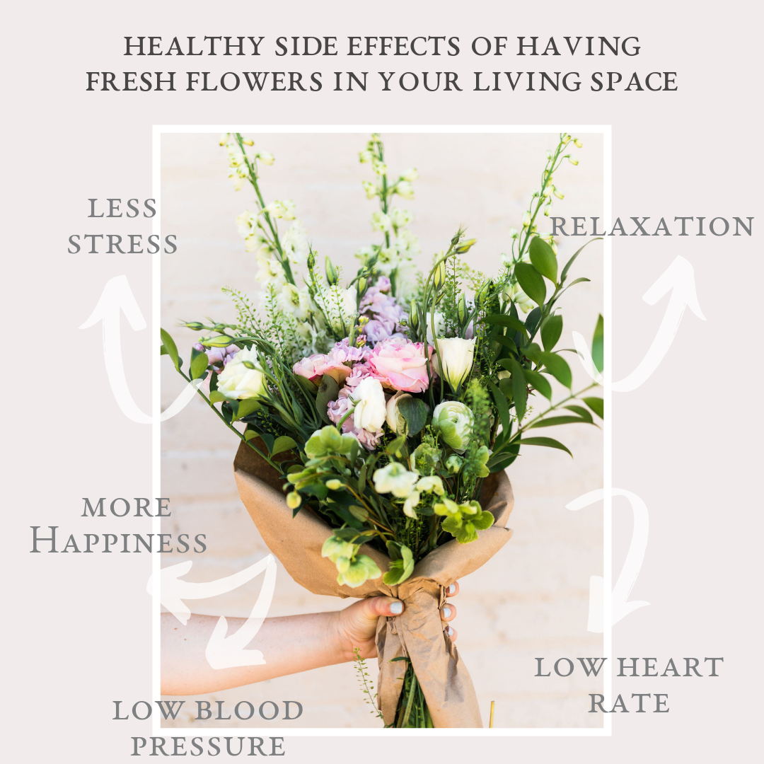 healthy side effects of having fresh flowers in your living space