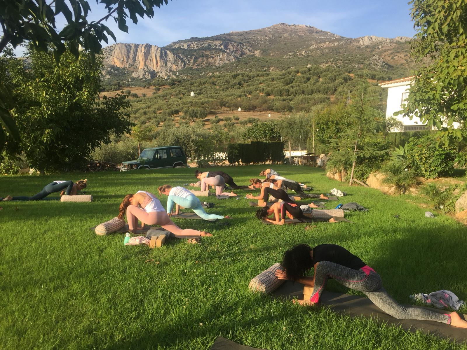 Yin yoga session Cortijo Las Monjas