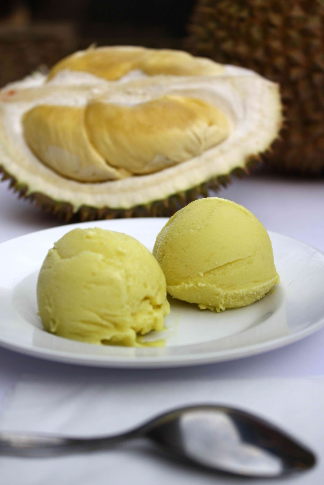 Fresh Ice Cream with exotic flavors such as Jackfruit, Durian, Ube, Halo-Halo, and Mochi