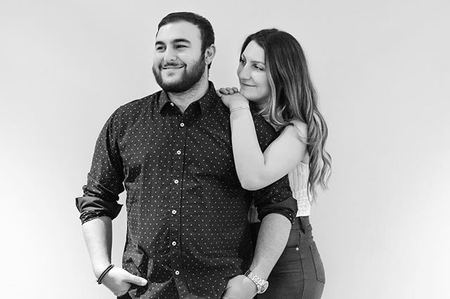 You know couples that genuinely seem so happy in each other's presence? That their sense of humours match so well their loving banter flows from mouth to ears so freely and easily you'd think they've known each other since ..high school ? This is them! My cousin @lmacchione and his lovely girlfriend @melbuggea 💕💕 so genuinely happily in love 😘😘 . . . . . #portraitphotography #blackandwhitephotography #blackandwhiteportrait #couplegoals #love