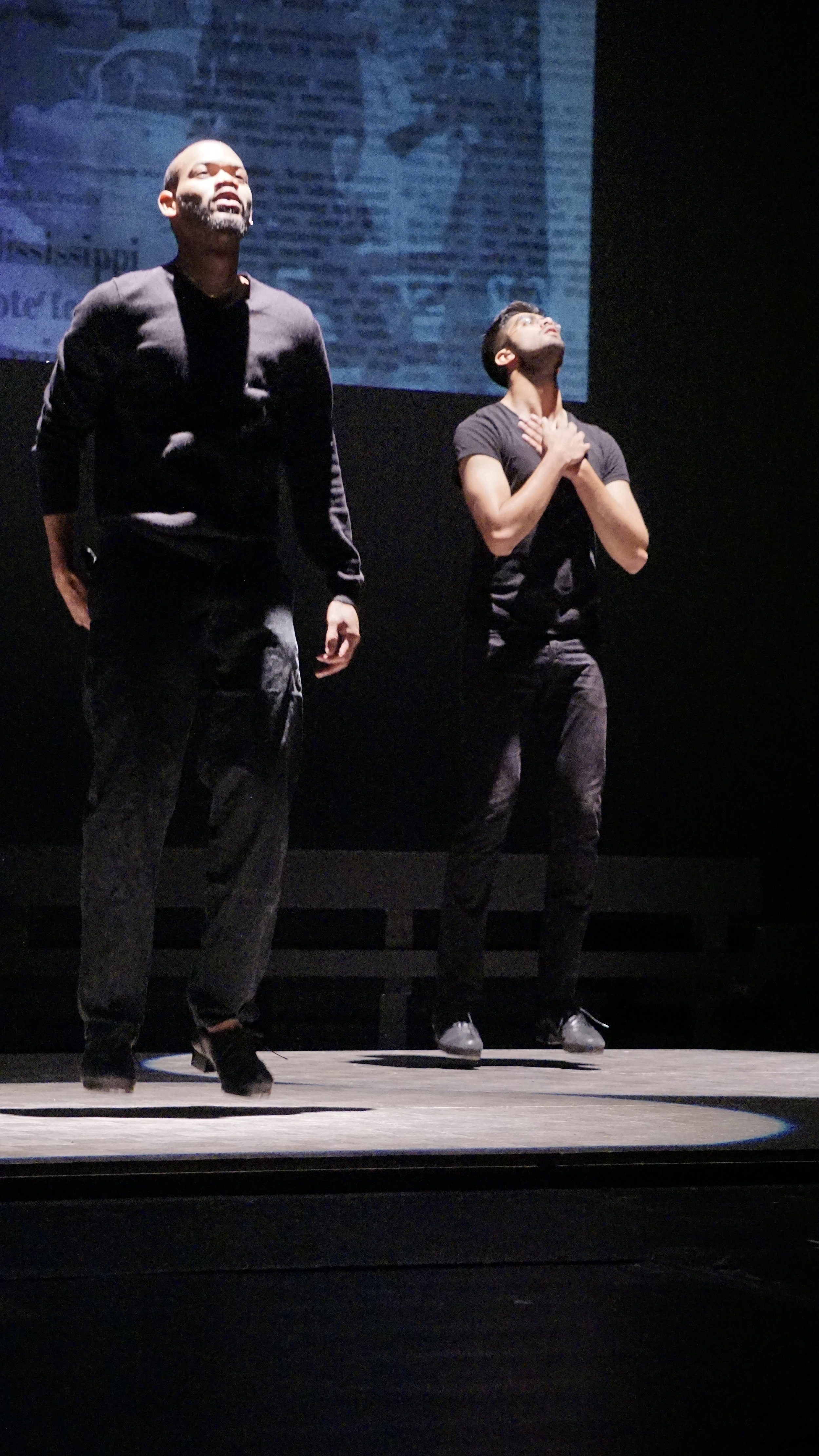 """Gerson Lanza and Vikas Arun in """"Glory"""" at the 2016 company show"""