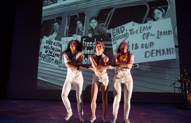 """Lola Sanchez, Aubrey Cheek, and Linsey O'Neal in """"Rise Up"""" at Rhythm in Motion 2017"""