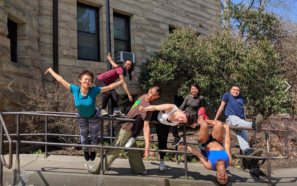POC students at the end of a POC Affinity Parcon Resilience workshop at Oberlin this spring.