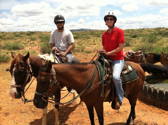 Stefanie Anderson of South Carolina Court of Appeals    Fun birthday activity--trail ride with Clay Ivy near Phoenix, Arizona. Three hours in the Arizona sun may have been a little long, but we had a great time!