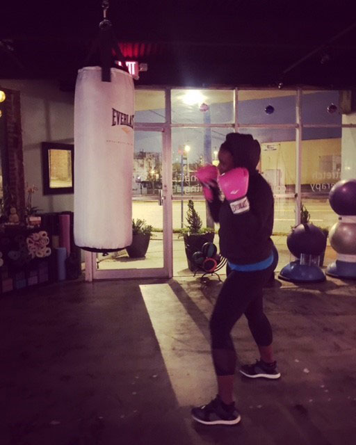 Ashleigh Wilson of Bowman & Brooke, LLP  Early morning stress relief at Fit Columbia in Five Points.