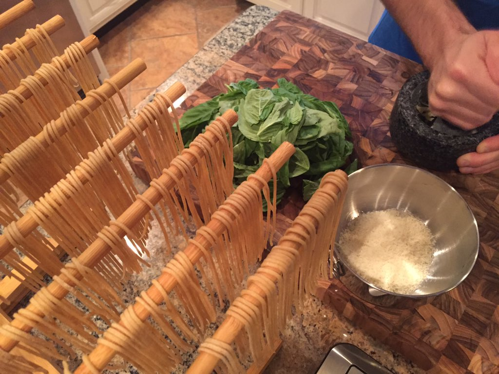The @SCBAR  #SCBarSpringIntoWellness challenge in full action! Homemade whole grain pasta made with @AnsonMills flour and fresh local spinach!  #homemadehealthy
