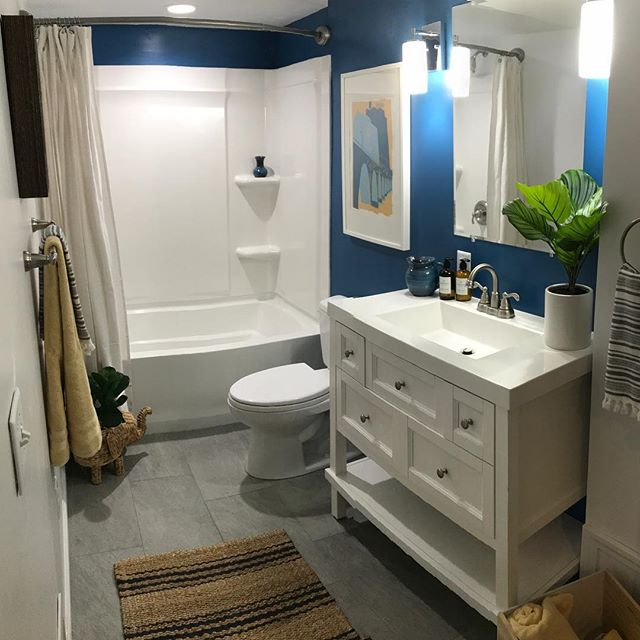 Surviving the peak of this winter chill with the tropical vibes from our latest project. Loving the fun, fresh pops of color for this basement bathroom that is anything but boring. . . . . . #tuskbuildersdesign #basementrefresh #funandfunction #winterrefresh #basementbathroom #tuskrefresh