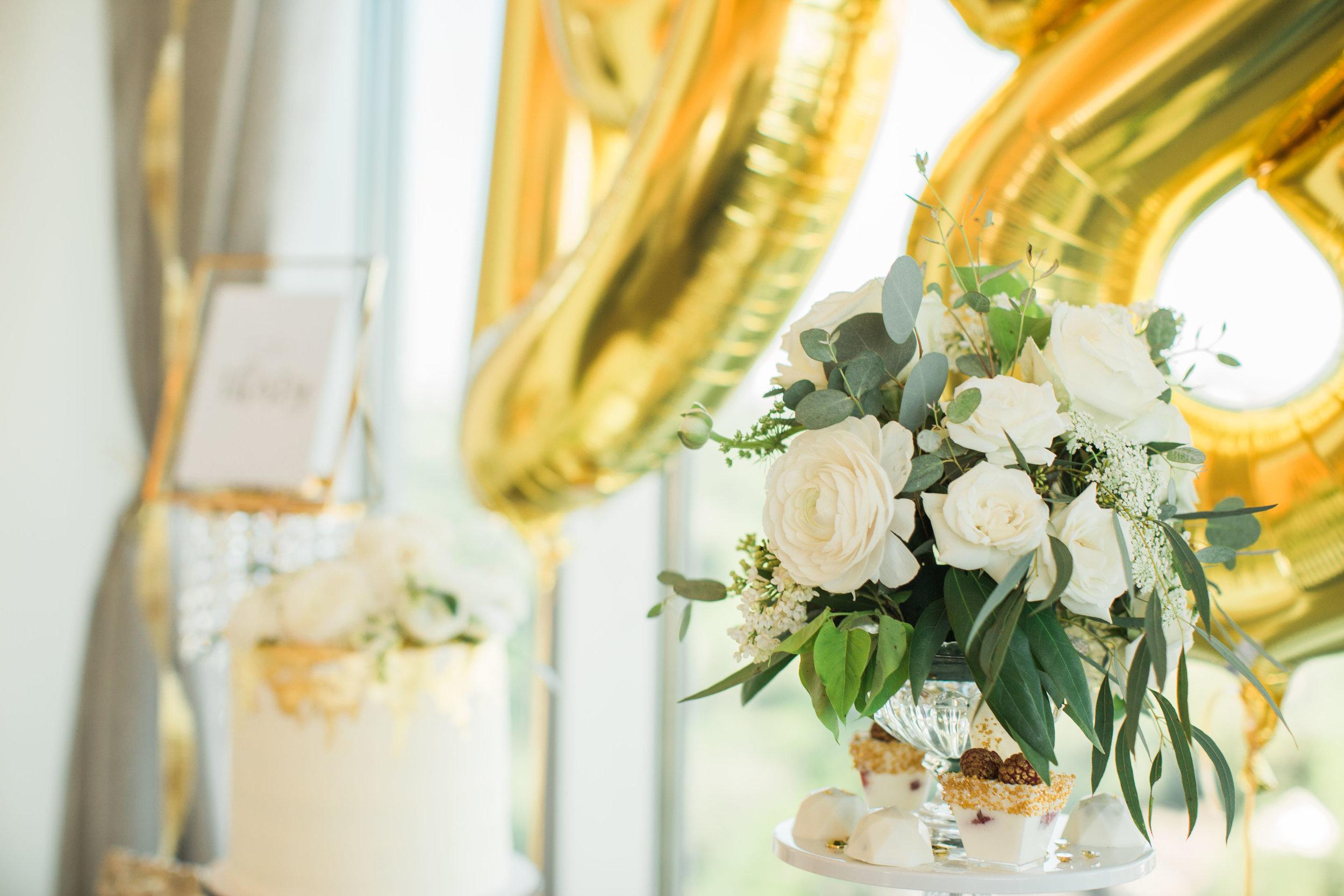 White Ivory Garden Style arrangement Lovely Soiree Floral Designs in Houston, Texas