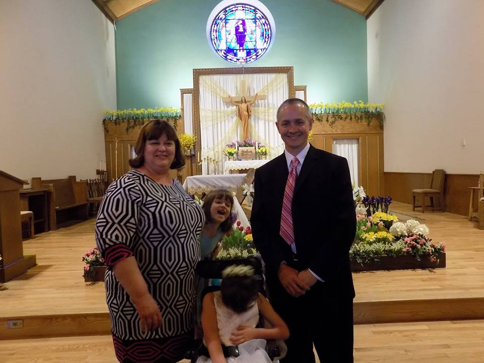 Abigail's First Communion family picture