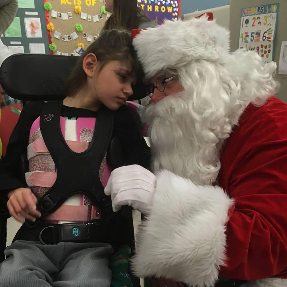 Abigail and Santa 2017