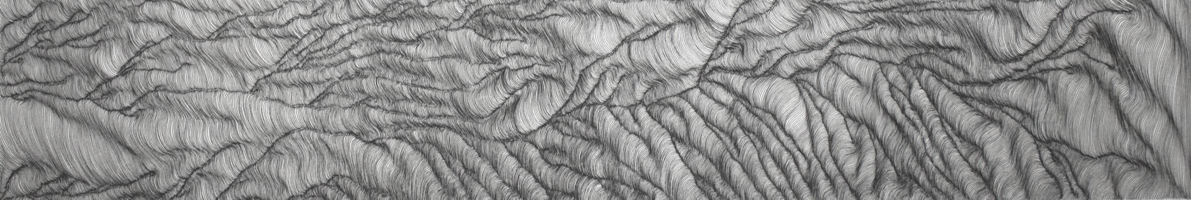 Preparatory drawing for Draupadi, taken across Rajasthan, India. Ink on rice paper.