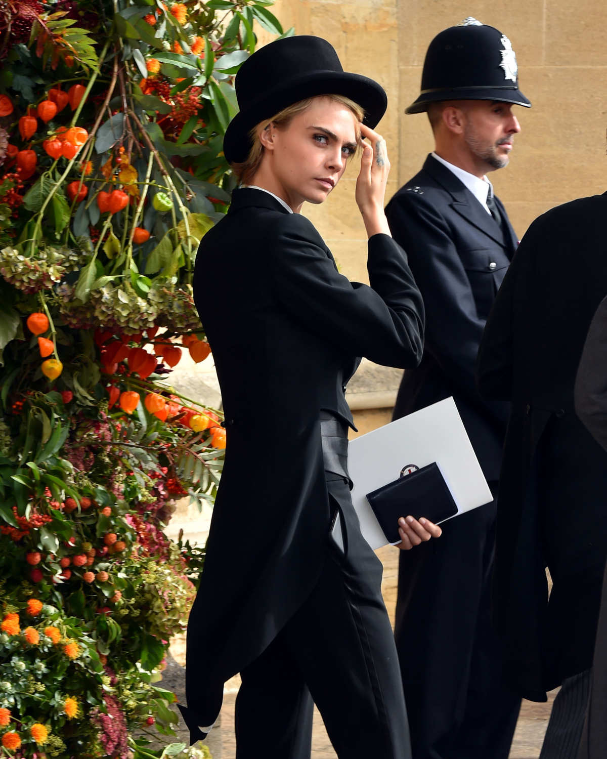 Cara at the wedding of Princess Eugenie, photo Matt Crossick, Getty Images