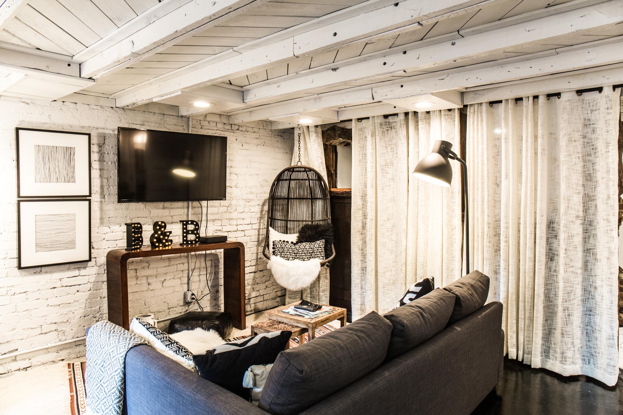 modern boho brick flat -