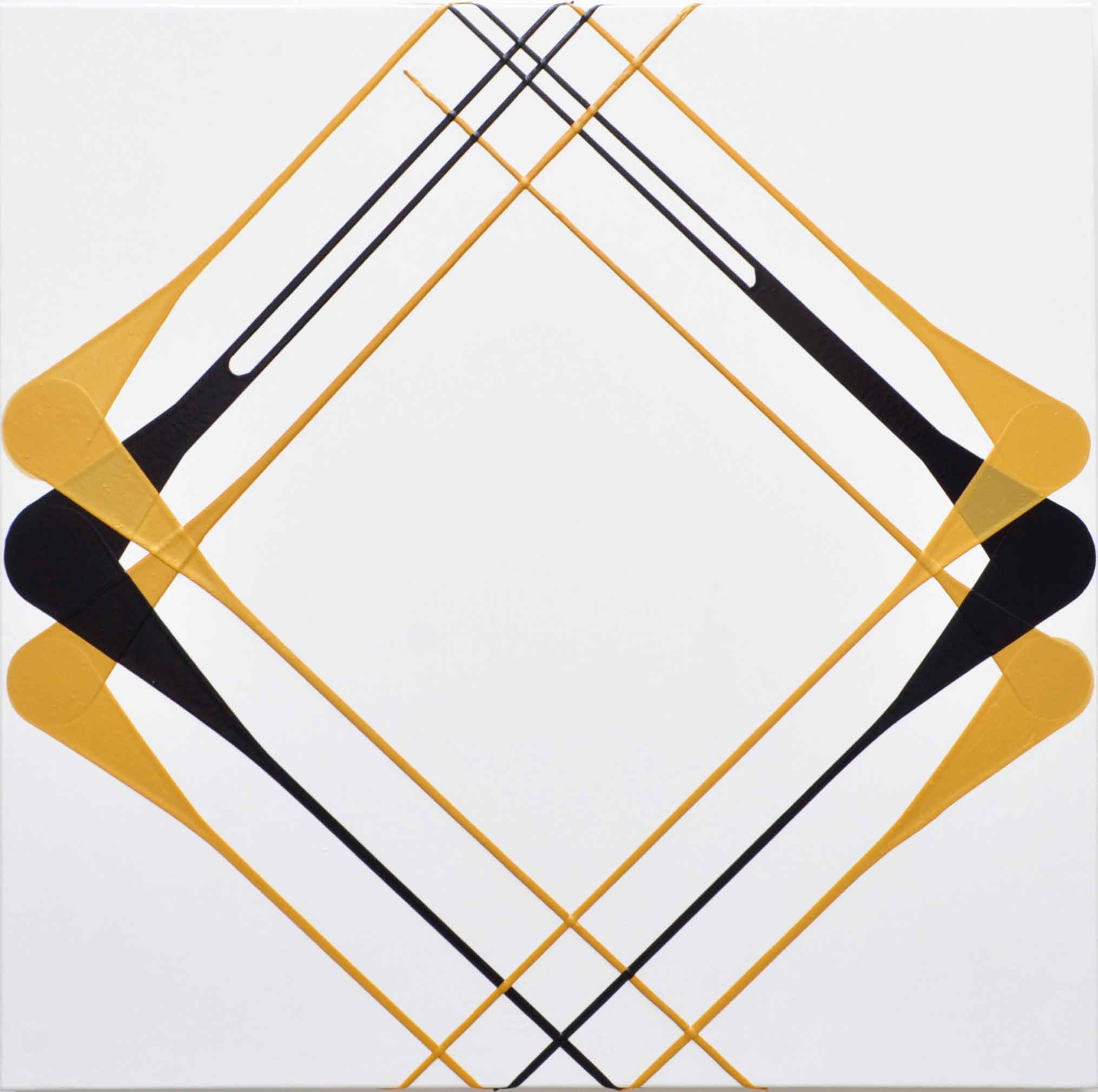 BATTERSEA RAILINGS, 2018  Acrylic on canvas 100cm x 100cm x 4cm