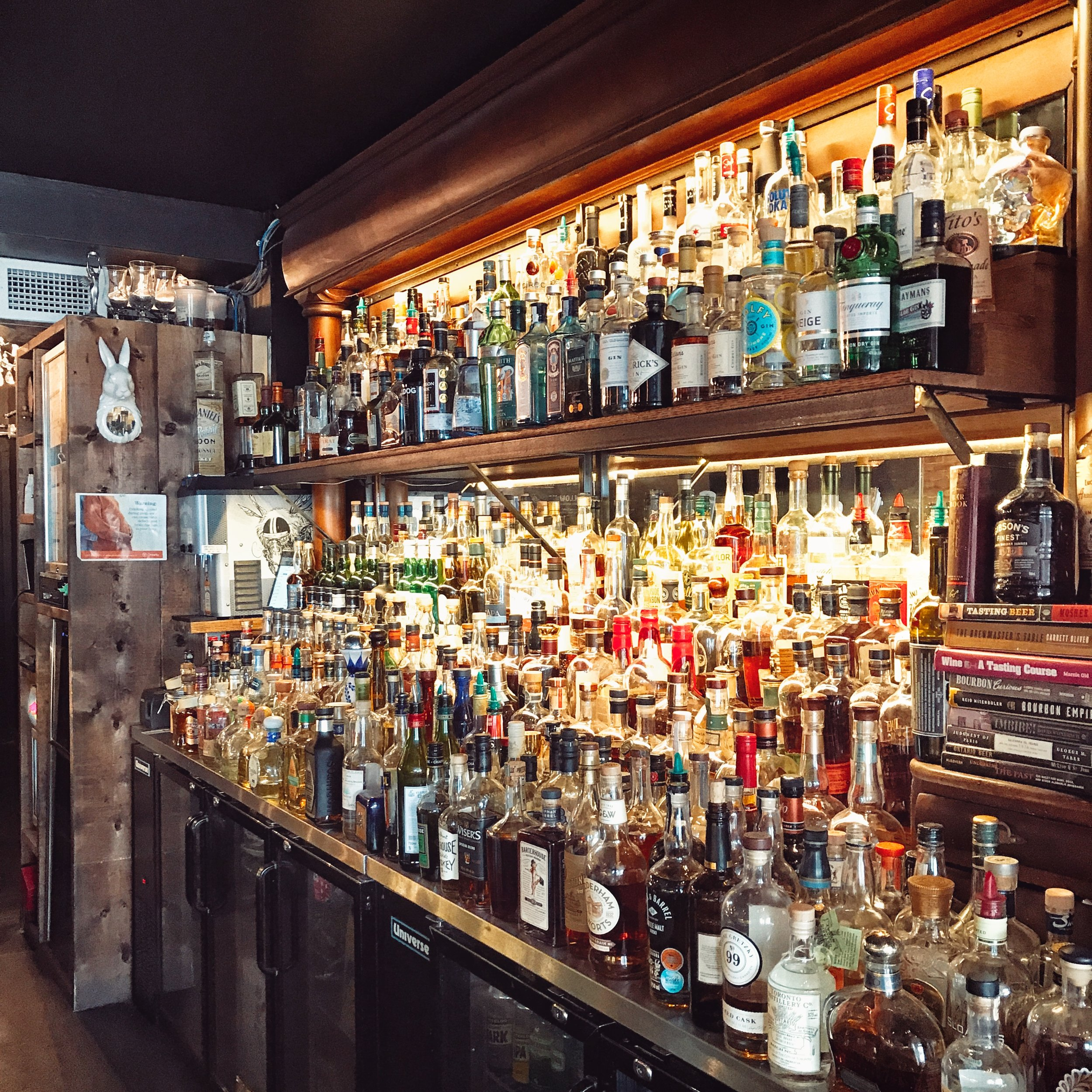 Check back for drink reviews! - White Rabbit has the largest back-bar in Ontario with over 400 unique bottles. We're definitely not going to miss the opportunity to try all of them for you!