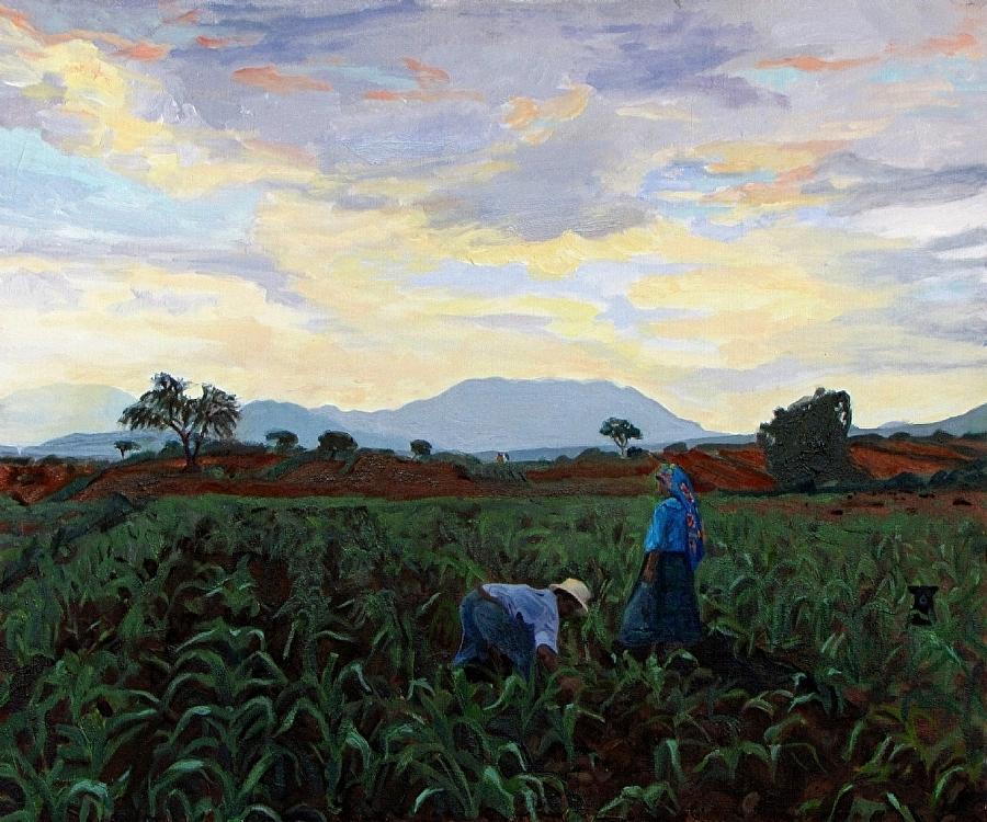 Weeding at Dawn