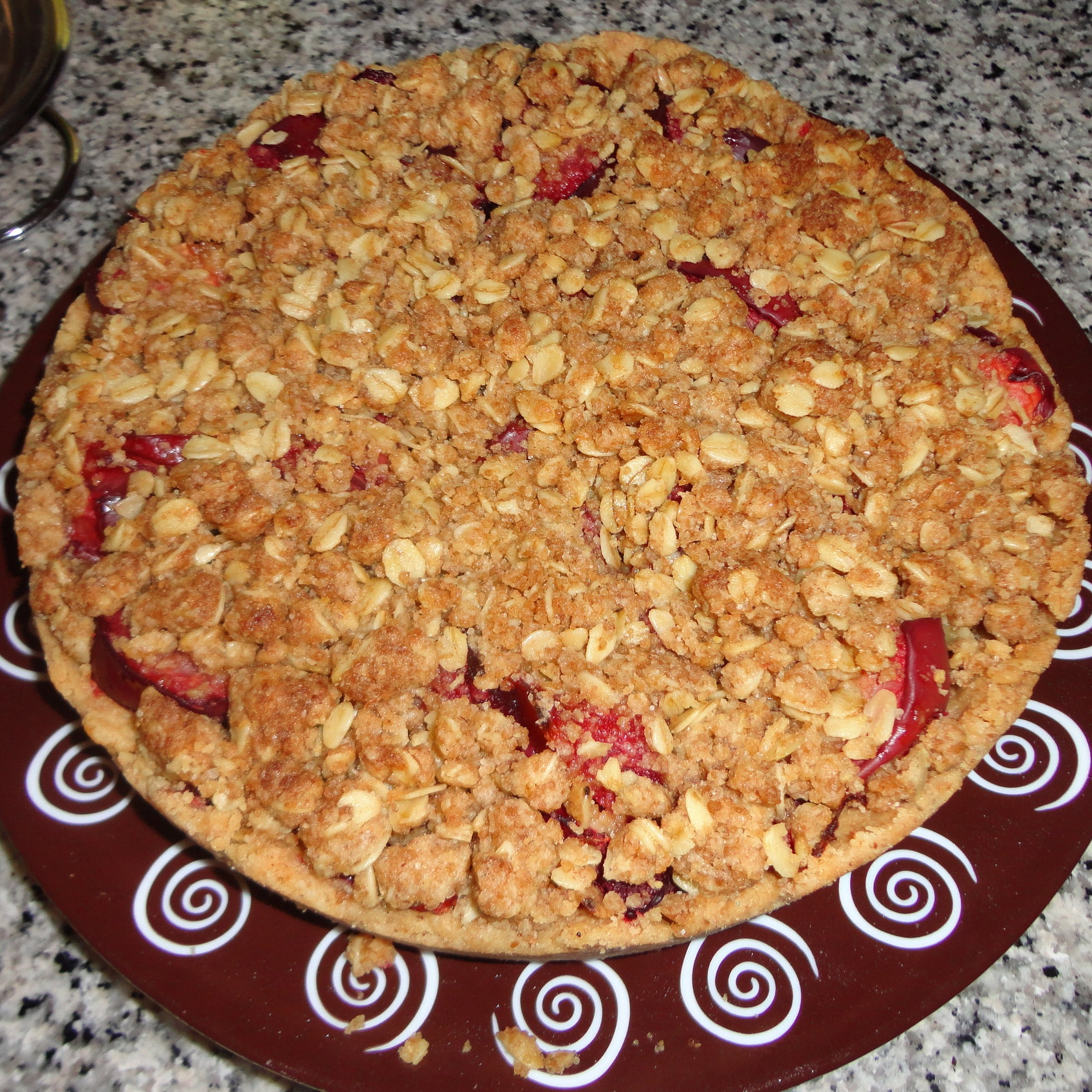 Homemade plum cake (brought by me, the guest).