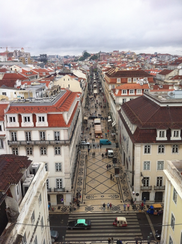 View from the  Arco de Rua Augusta.