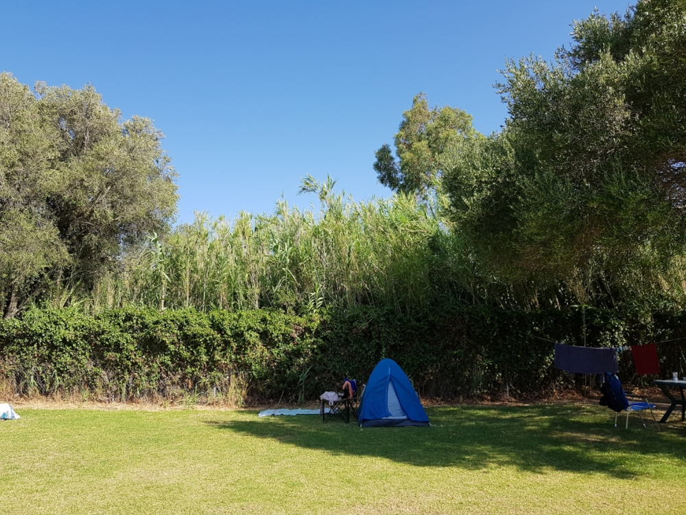 You'll have your own space, but camping in Europe certainly seems to have a more communal feel than I was used to!