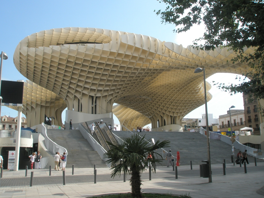Metropol Parasol is lovingly referred to as  Las Setas  (The Mushrooms) and is definitely worth a visit!