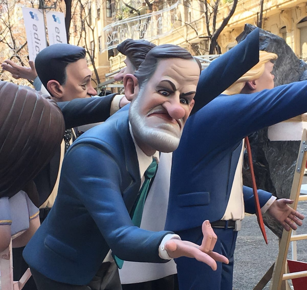 Characters on floats come in all shapes and sizes at the  las fallas  parade.