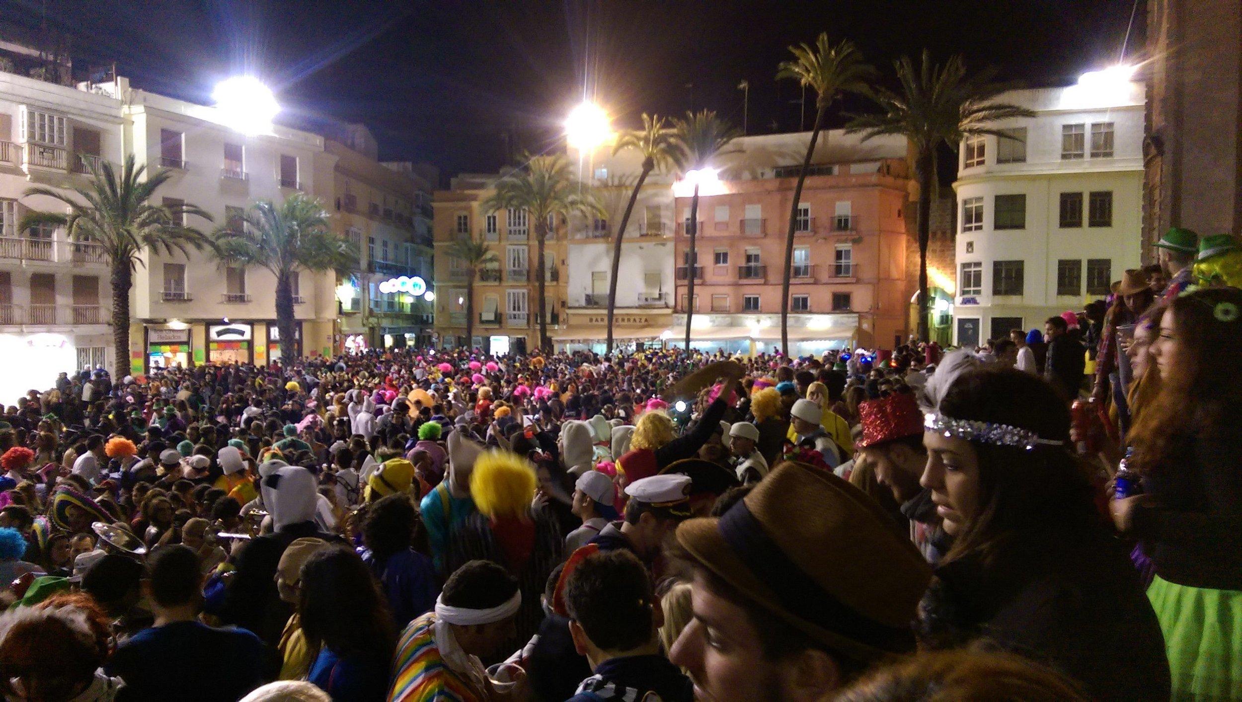 crowd at Carnaval
