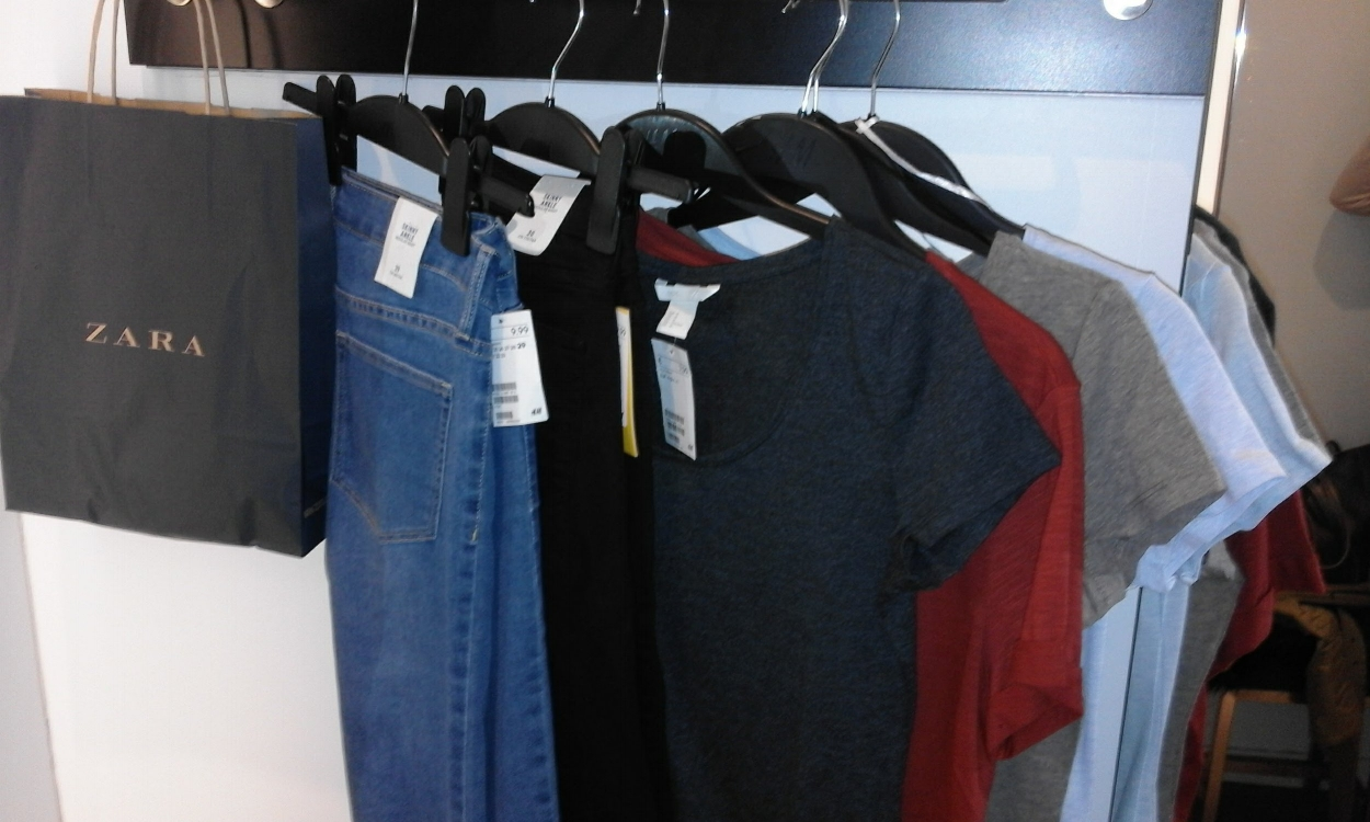 I'll buy a thing or two at Zara, but the bulk of my basics come from H & M.