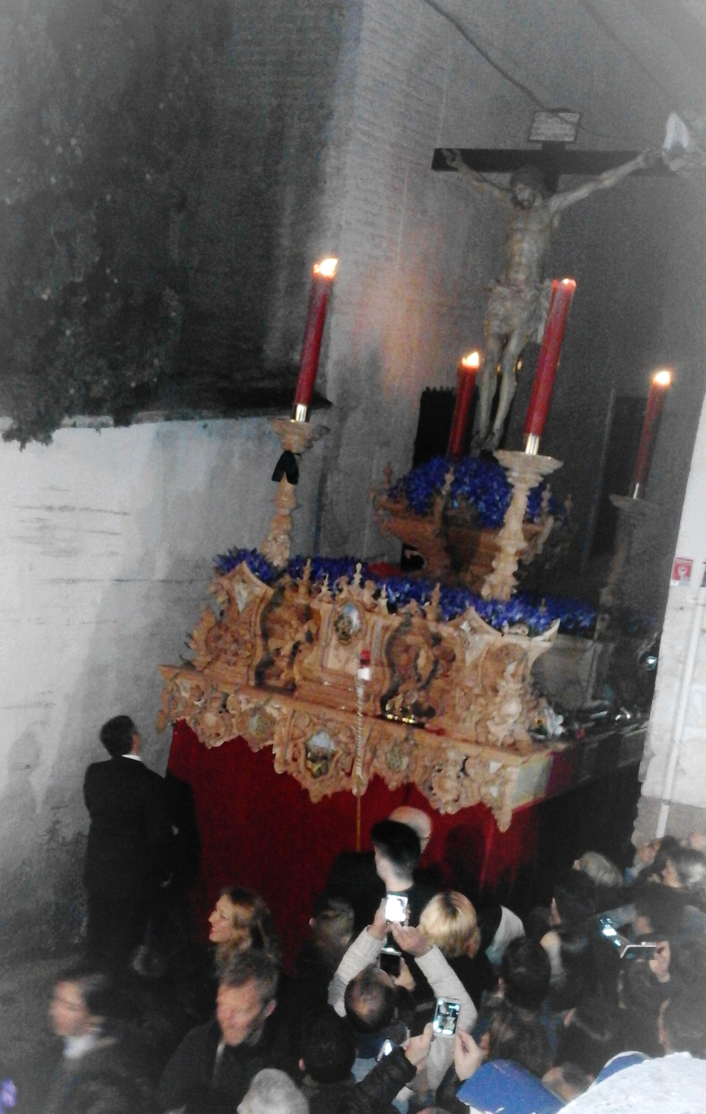 """One of the unique processions here in Granada is the """" Gitano""""  one that takes place at night in the Sacromonte."""