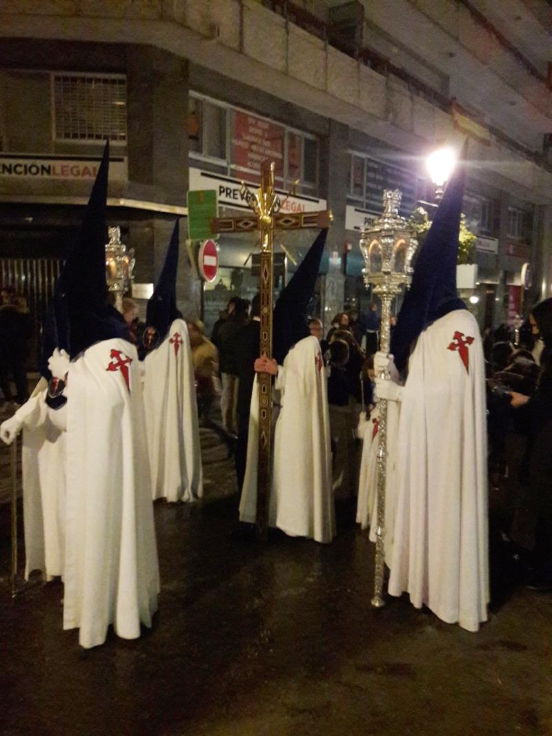 Penitentes in a procession