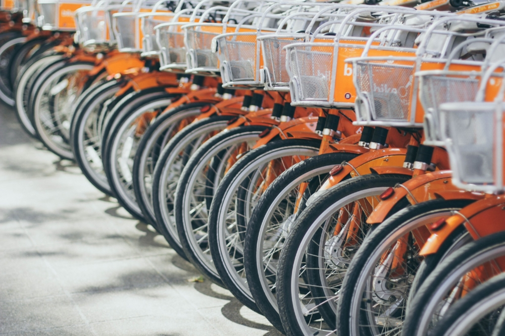 Don't expect rent-a-bikes to come with helmets...although they should come with lights!