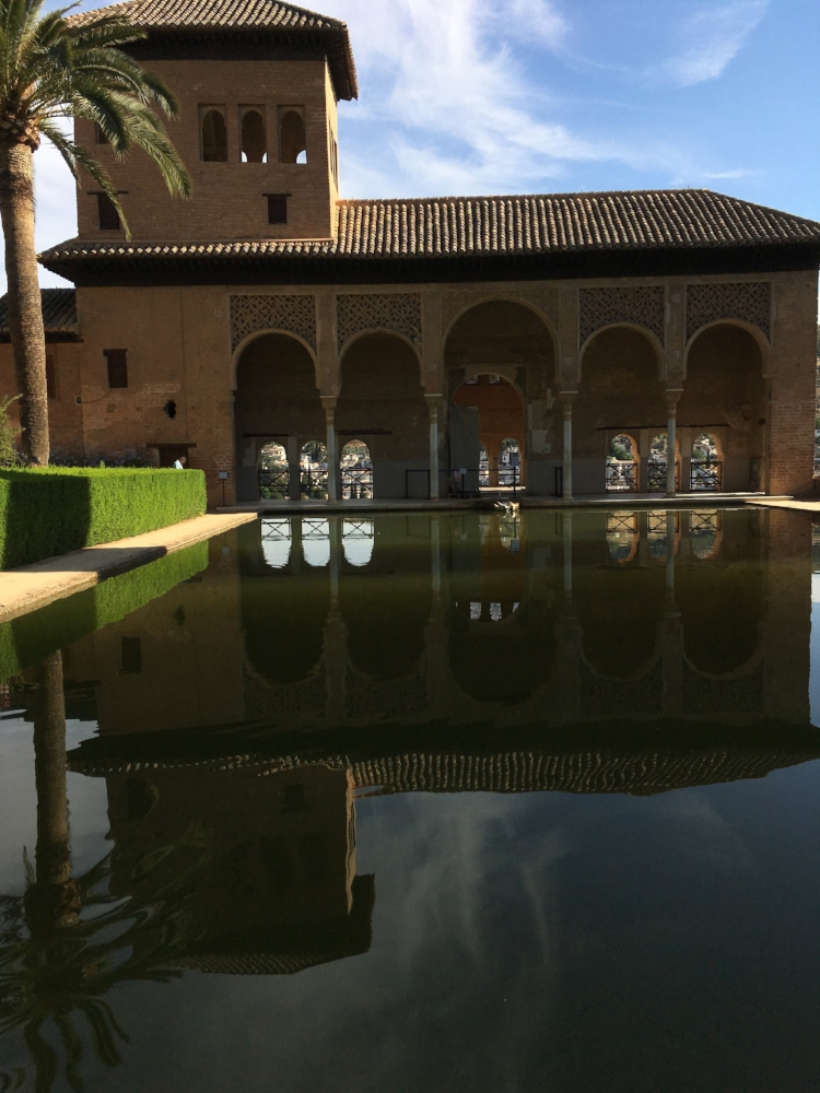 A rare moment of no people in the Alhambra.