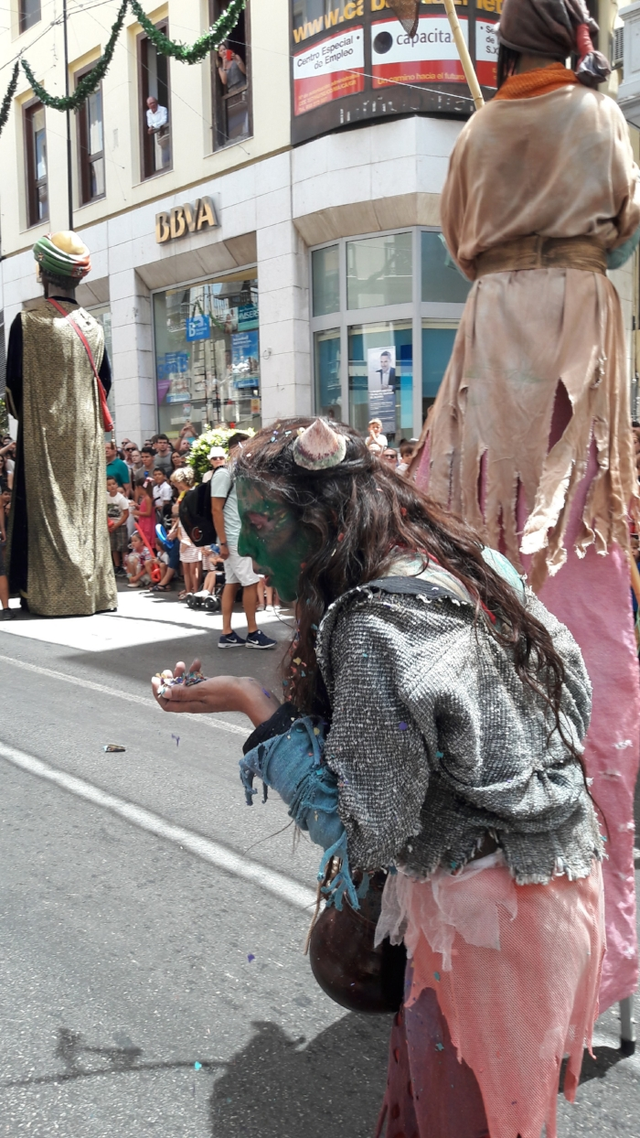 A character in the famous  Tarasca  parade.
