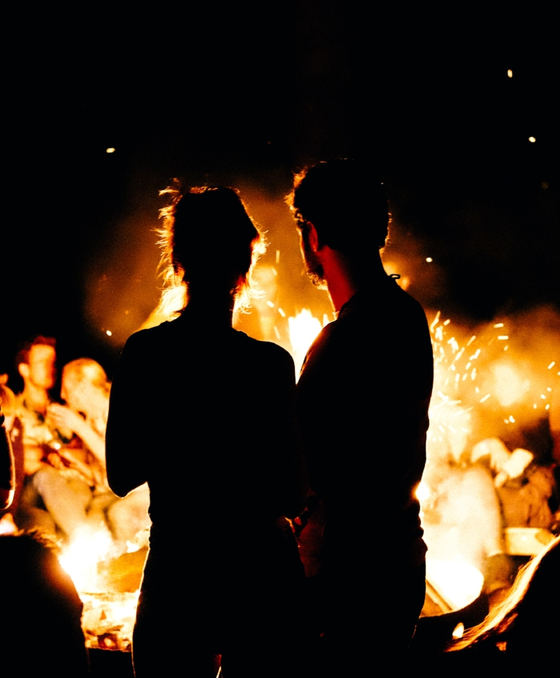 Celebrate  San Juan  properly by coming together with friends and loved ones around a bonfire.