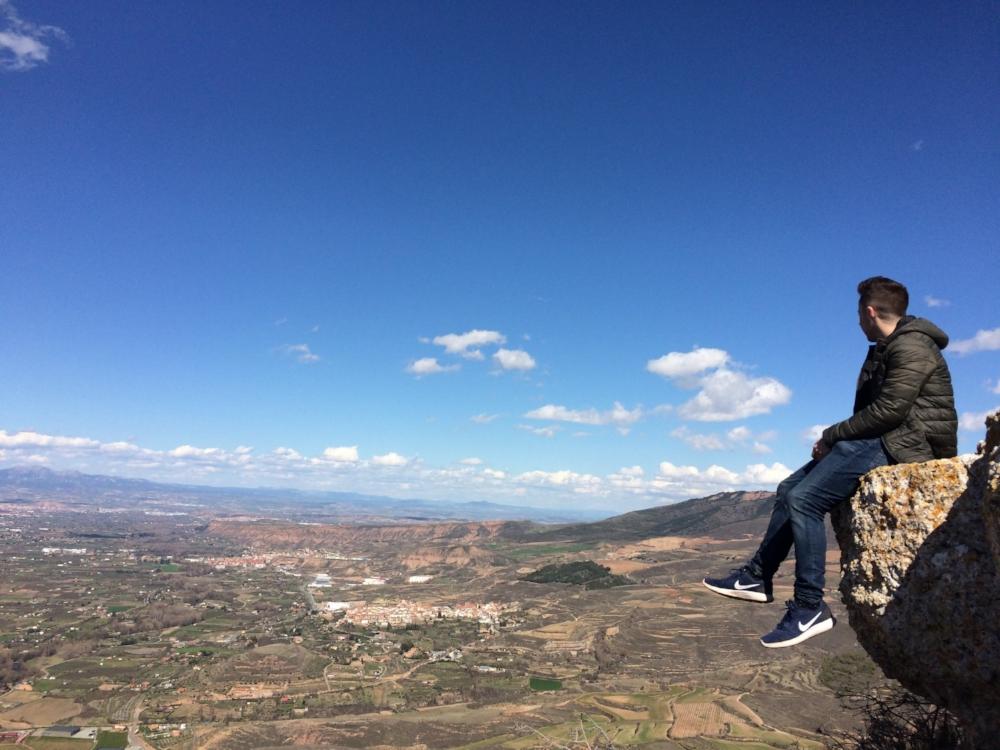 Jake on cliff's edge