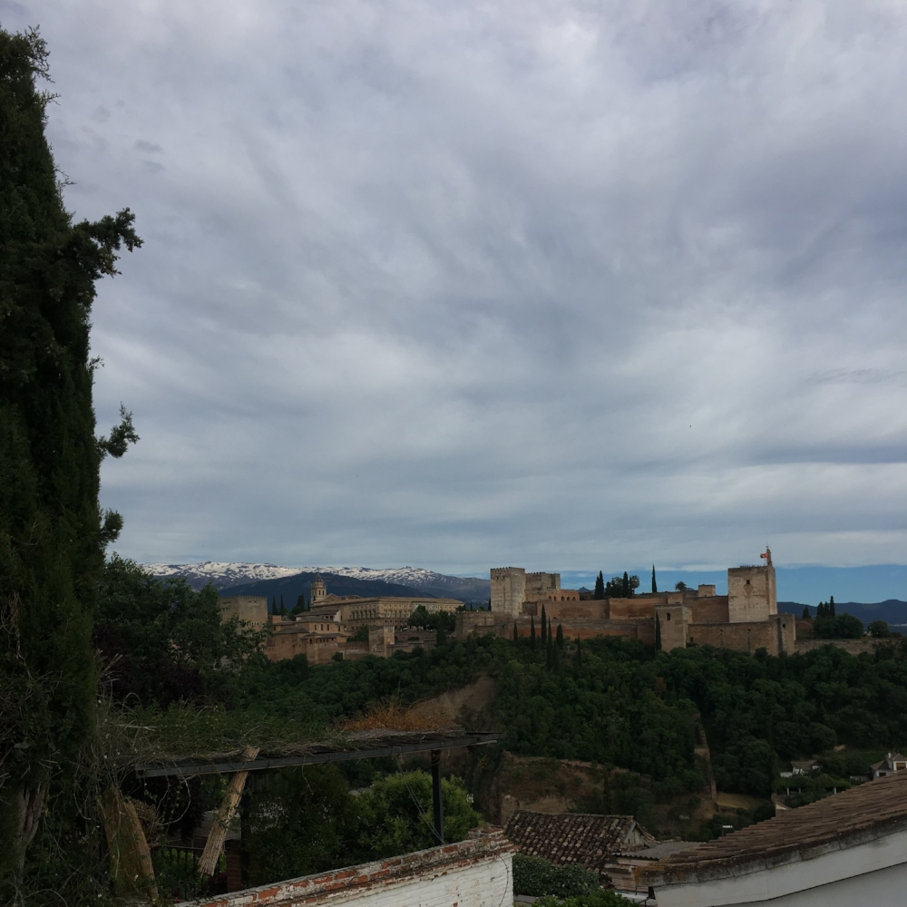 Life is the Journey not the destination. A view of the Alhambra, Granada.