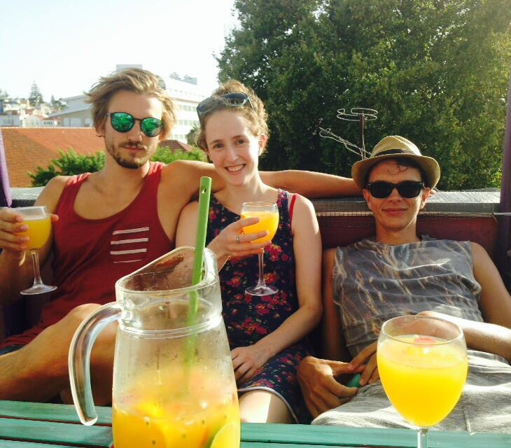 Summer sangria with friends.