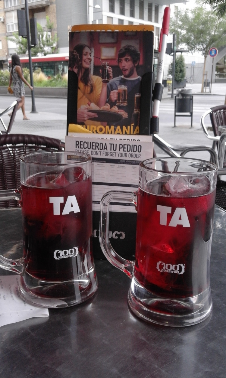 Tinto de verano  from the tap can be tasty, but it's a different kind of experience.