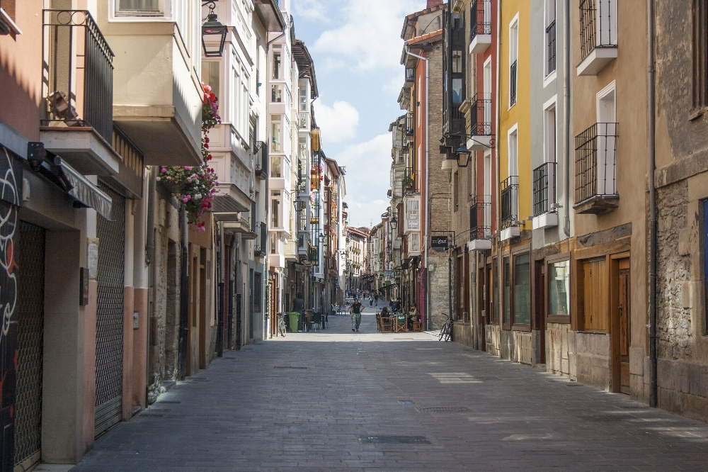 A street in Victoria, Basque Country.