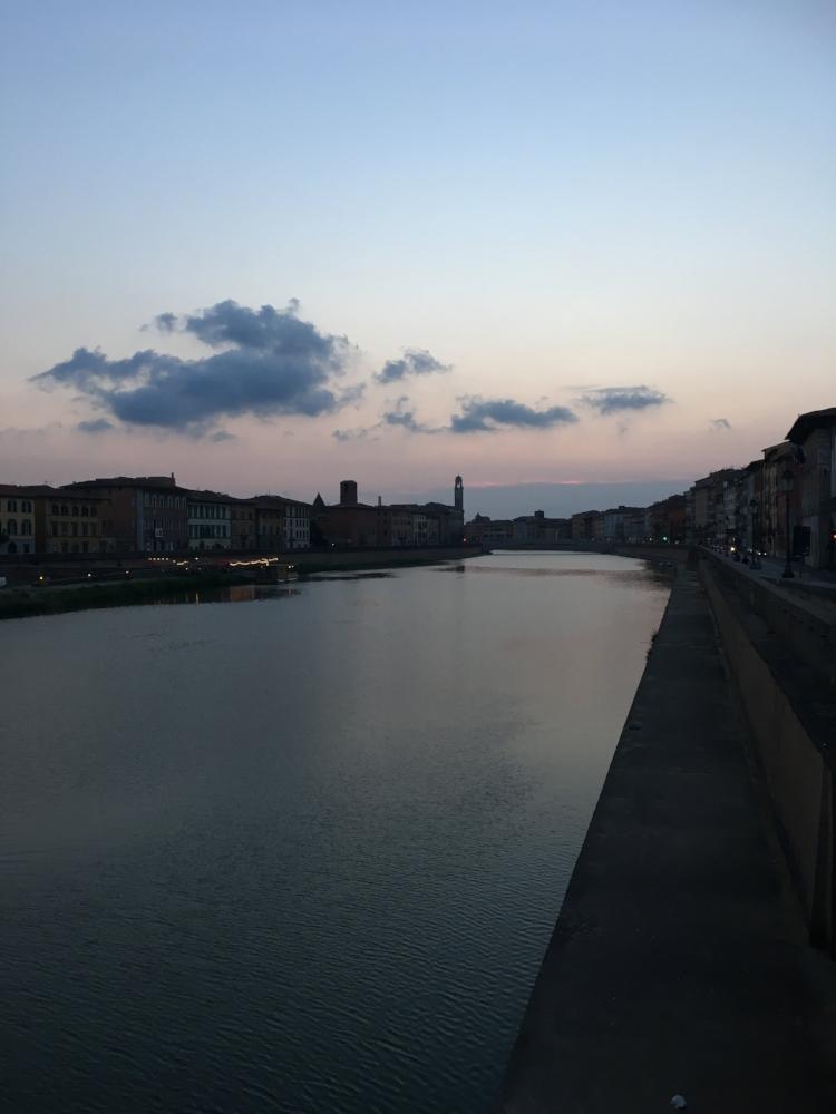 The river in Pisa.